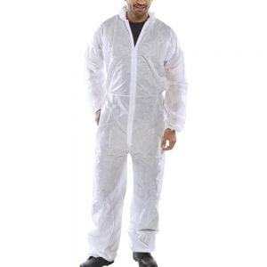 White Disposable Polyproplene Boilersuit