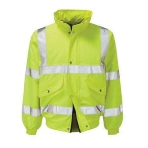 Yellow High Visibility Bomber Jacket