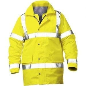 Yellow High Visibility Traffic Jacket