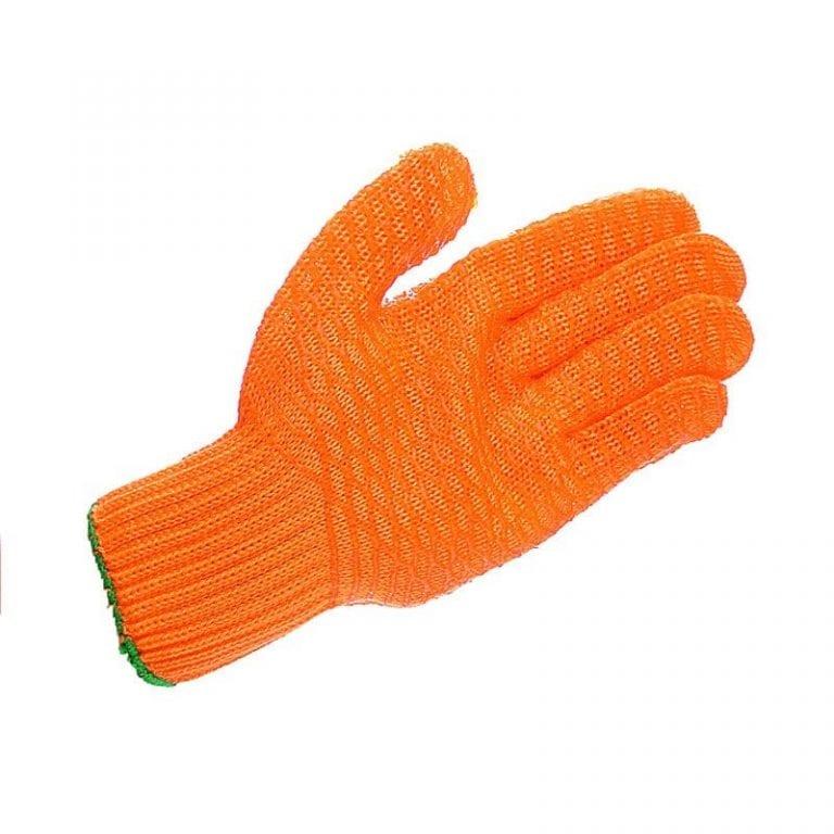 Mens Yellow Latex Criss Cross Glove