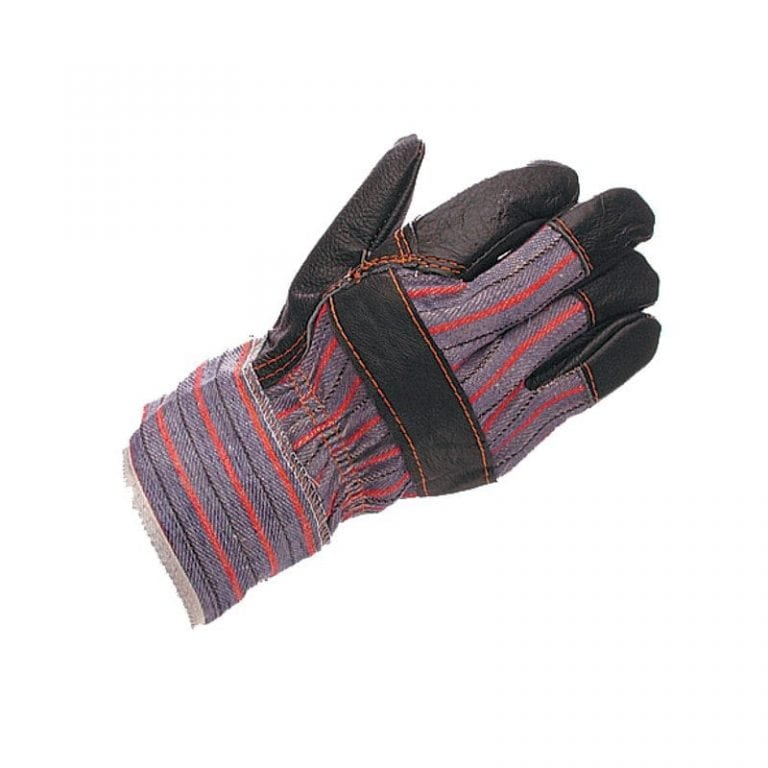 Mens Block Pattern Furniture 'Nappa' Hide Rigger Gloves