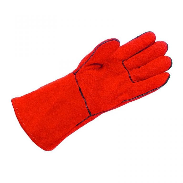 Mens Hurricane Red Lined Welders Style Gauntlets