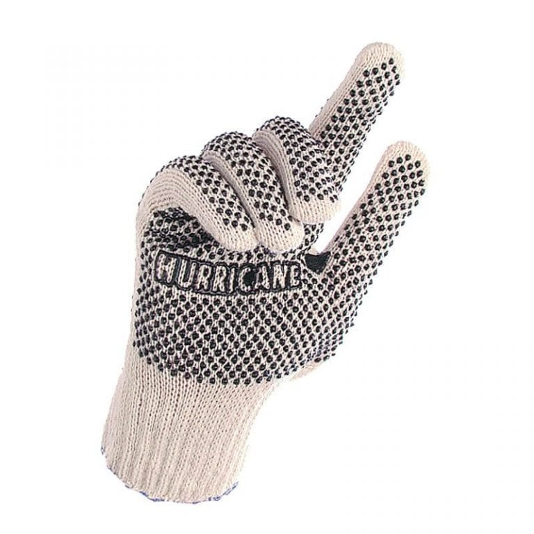 Knitted Shell Gloves with PVC Polka Dots