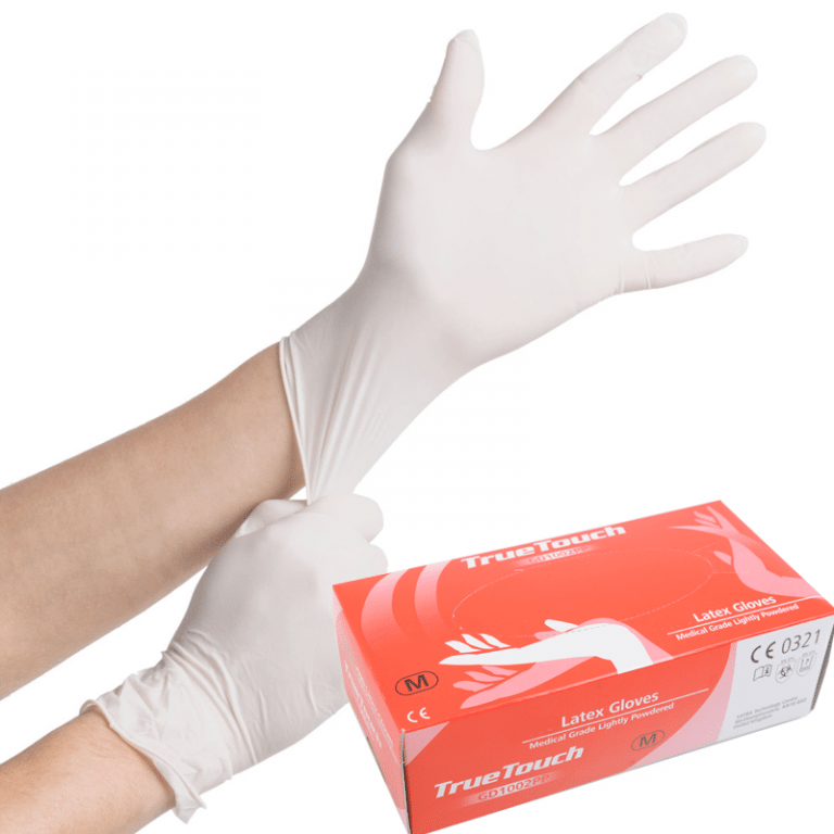 TrueTouch GD1002 Lightly Powdered Natural Latex Disposable Gloves
