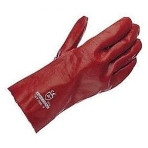 "Red PVC Lightweight 11"" Hurricane Gauntlet"