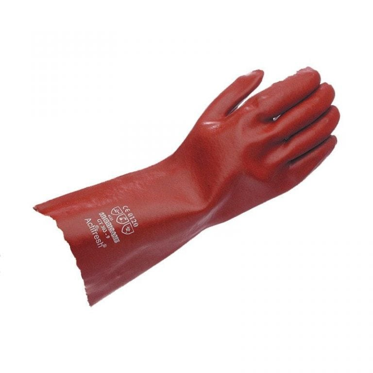 Hurricane Red Lightweight 35cm PVC Gauntlet