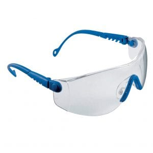 Honeywell Sperian Op-Tema Blue Frame Clear Safety Spectacles