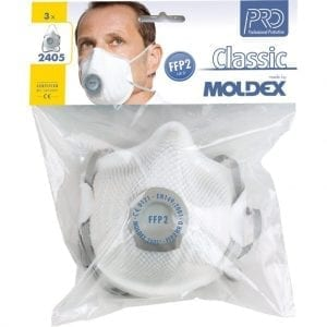 Moldex A2405 Ventex Valved Dust Mask Blister Pack FFP2S (P2V)