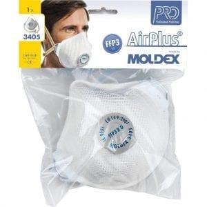 Moldex A3405 Ventex Valved Toxic Dust Mask (P3V)