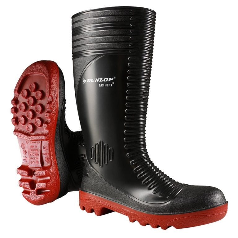Dunlop Acifort Ribbed Full Safety Wellington Boots
